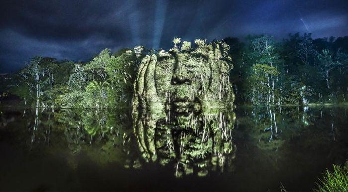 Artist Finds A Way To Create Stunning Street Art In The Amazon Rainforest