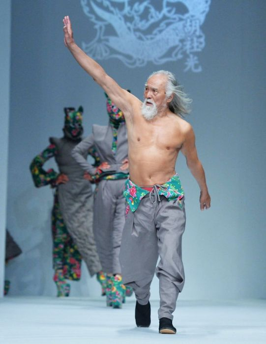 Elderly Grandpa Nails His Runway Debut At 80 Years Old