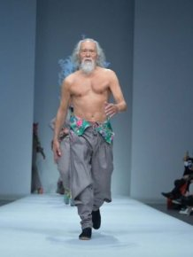 Elderly Grandpa Nails His Runway Debut At 80 Years Old