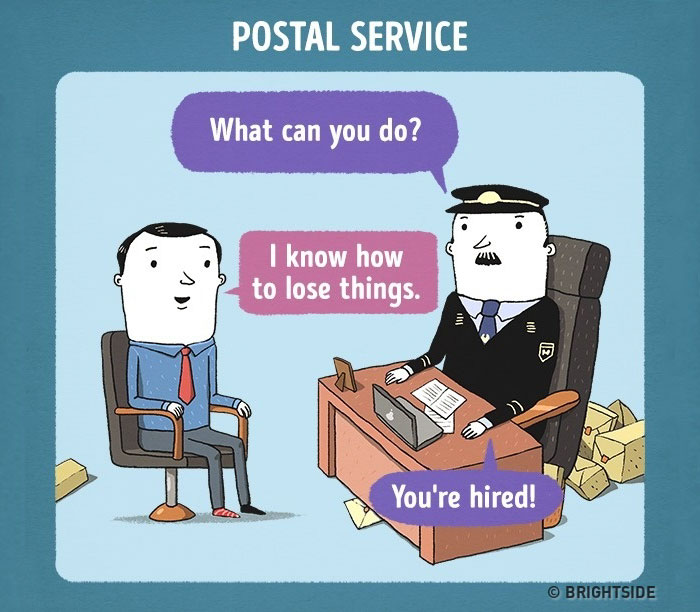 Funny Illustrations Depict Job Interviews At Famous Companies