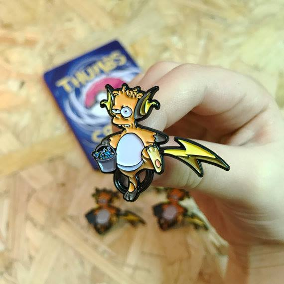 This Etsy Store Sells Awesome Simpsons/Pokemon Mashup Pins