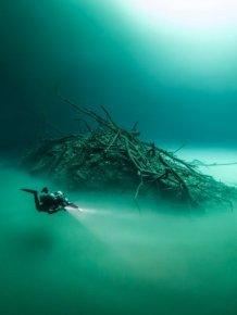 British Diver Finds Bizarre Underwater Lake Hidden In A Cave