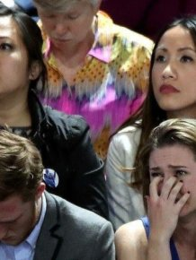 There Were Many Sad Faces At Hillary Clinton HQ On Election Night