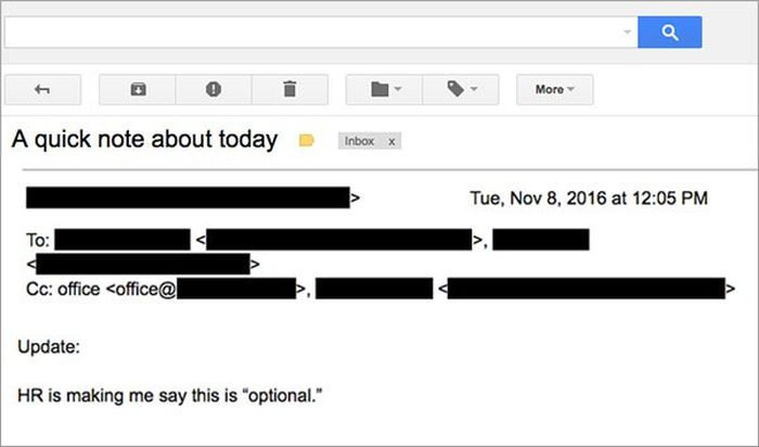 Boss Sends Out Epic Memo On Election Day