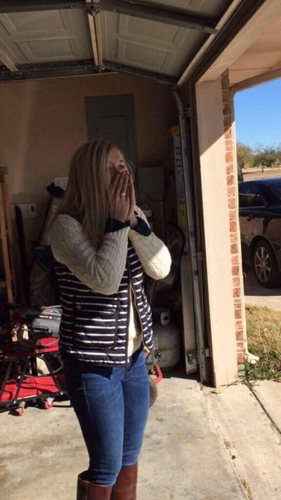 Woman Gets A Surprise She'll Never Forget From Her Fiancé