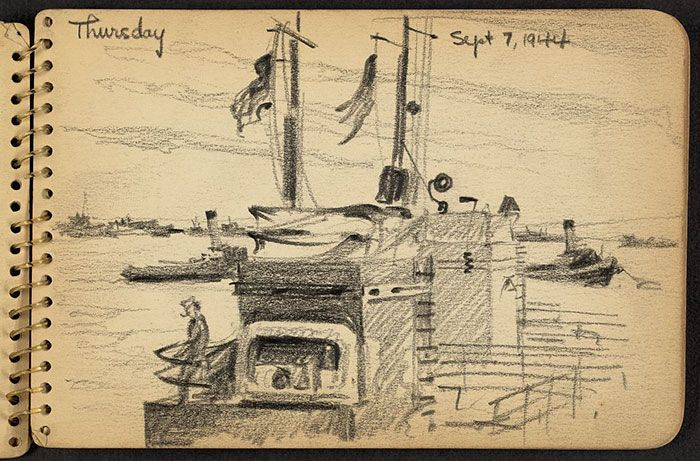 Soldier's Sketchbook Shows World War II Through The Eyes Of An Architect