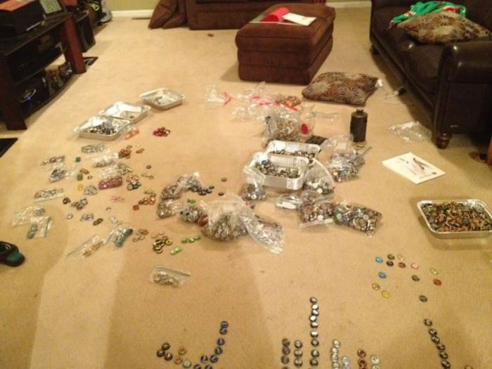 Guy Turns His Bottle Cap Collection Into Something Amazing