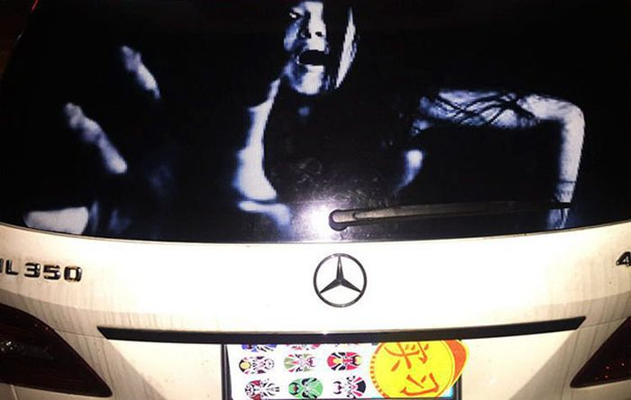 Drivers Are Using Terrifying Decals To Fight Against High-Beam Users