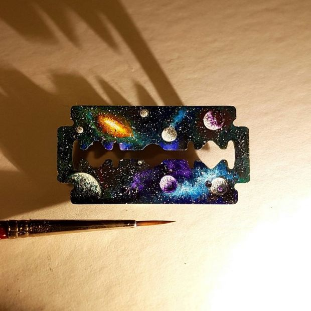 Breathtaking Tiny Paintings On Random Everyday Objects