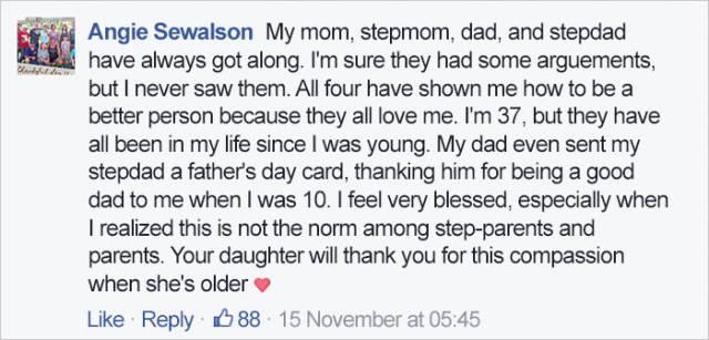 Mom Writes Touching Message To Her Ex Boyfriend's New Girlfriend
