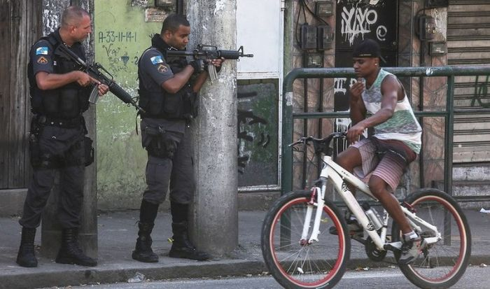 Just A Typical Day In The Favelas In Rio De Janeiro