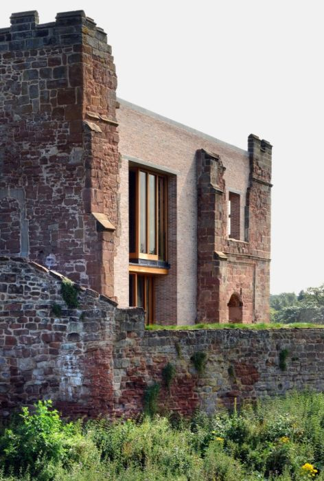 There's A Modern House Inside This Old Castle