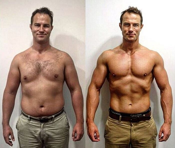 Father Goes From Dad Bod To Greek God In 15 Weeks
