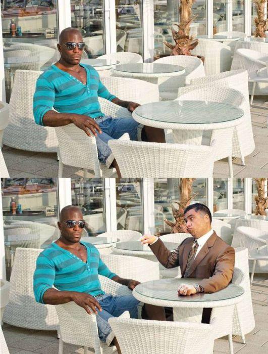 Guy Hilariously Photoshops Himself Into Awkward Stock Photos