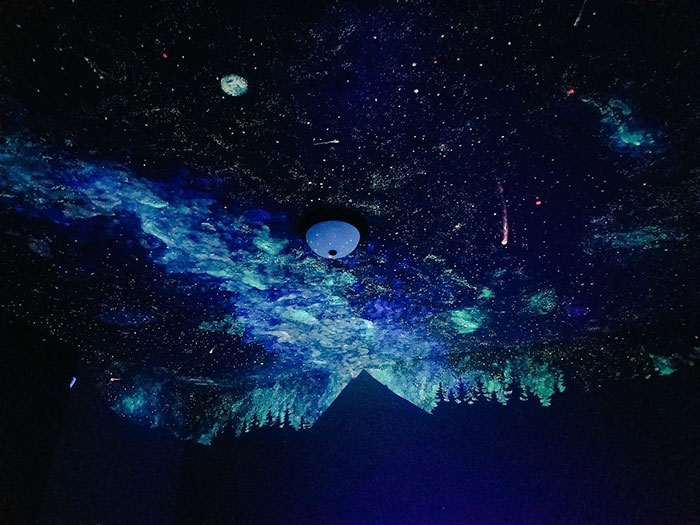 Woman Creates Glow In The Dark Ceiling For Boy Who Couldn't Fall Asleep