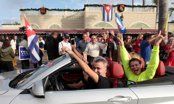 People Take To The Streets To Celebrate The Death Of Fidel Castro
