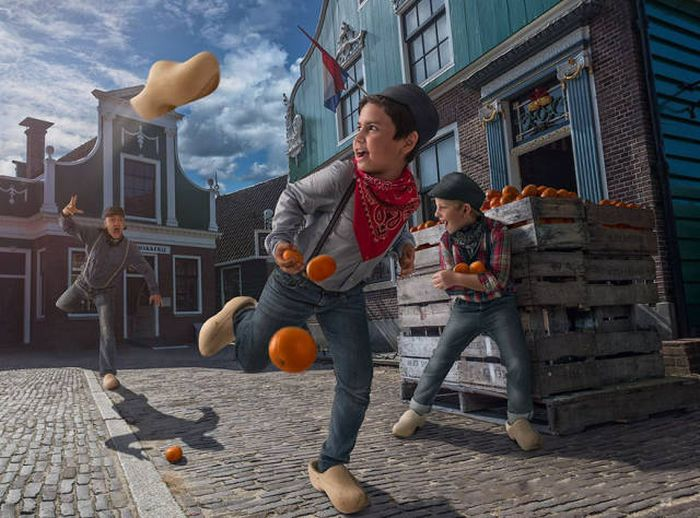 Dad Uses Photoshop To Place His Son In Surreal Scenarios