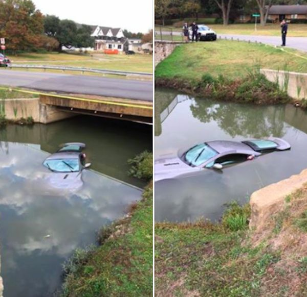 Dad's Aston Martin Ends Up In A River After Teens Take It For A Joy Ride