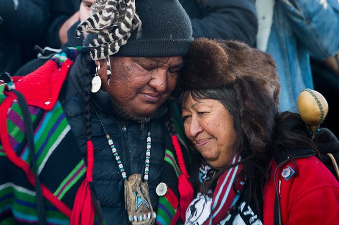 Joyous Images Show People Celebrating At Standing Rock