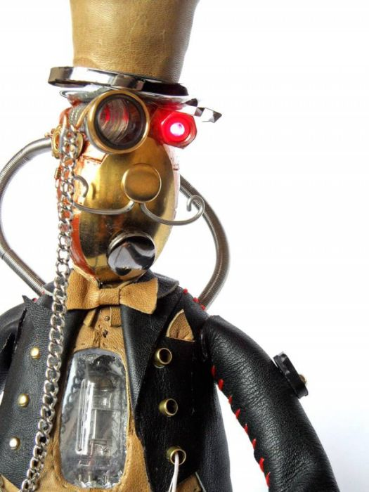 Awesome Steampunk Robots By Mashinarius