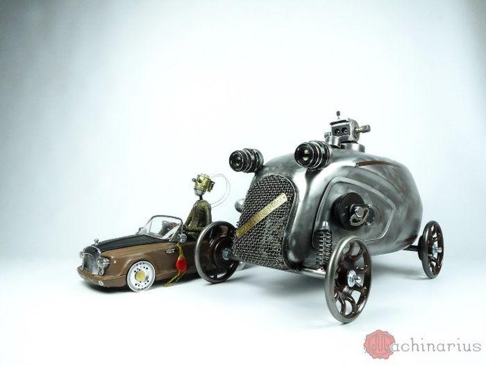 Awesome Steampunk Robots By Mashinarius
