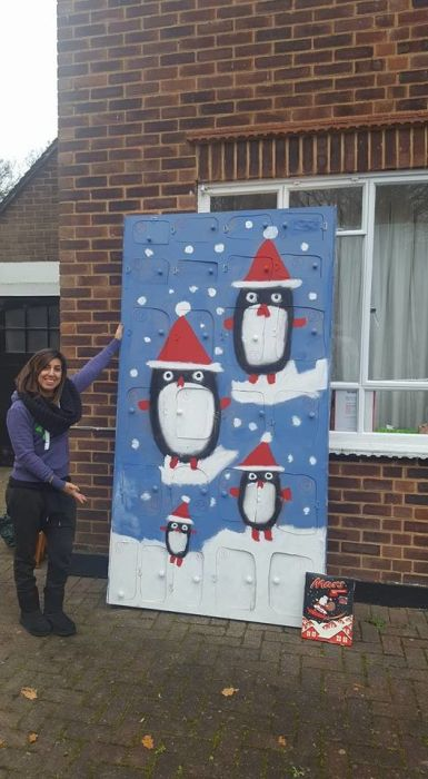 Husband Makes Wife A Giant Advent Calendar For Christmas