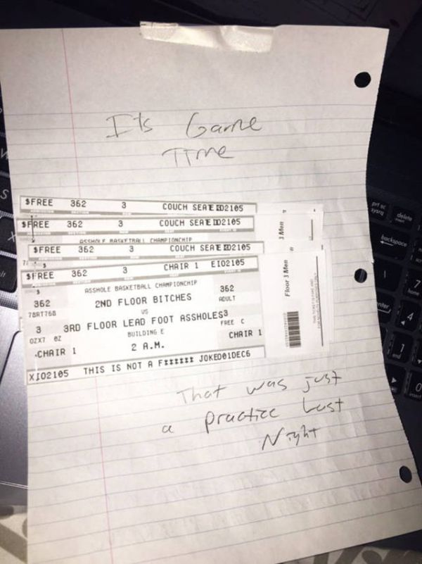 Angry Person Gets Wrecked After Writing Note To Their Loud Neighbors