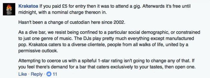 Bar Owner Puts Guy In His Place After He Leaves A One Star Review
