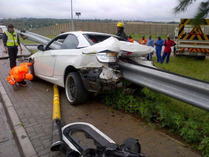 Driver Survives Brutal BMW Crash