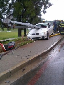 Driver Survives Brutal BMW Crash