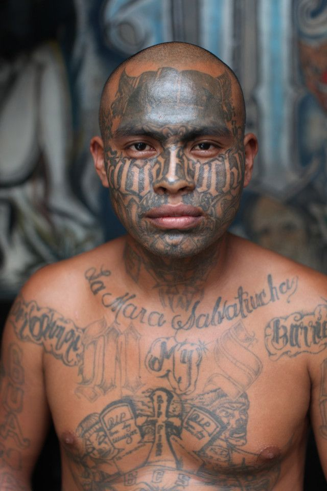 Candid Photos Show Members Of El Salvador's Brutal MS-13 Gang In Jail