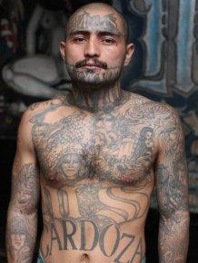 Candid Photos Show Members Of El Salvador's Brutal MS-13 Gang In Jail