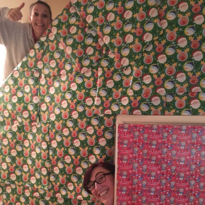Family Transforms Happy Couple's Home Into A Giant Christmas Gift