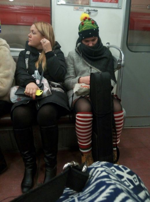 You Can See Some Strange Things While Riding The Subway In Russia