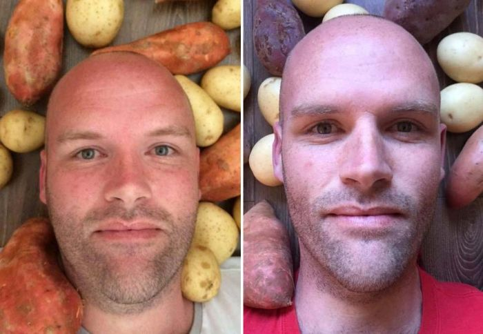 Man Goes Through Big Transformation After Committing To A Potato Diet