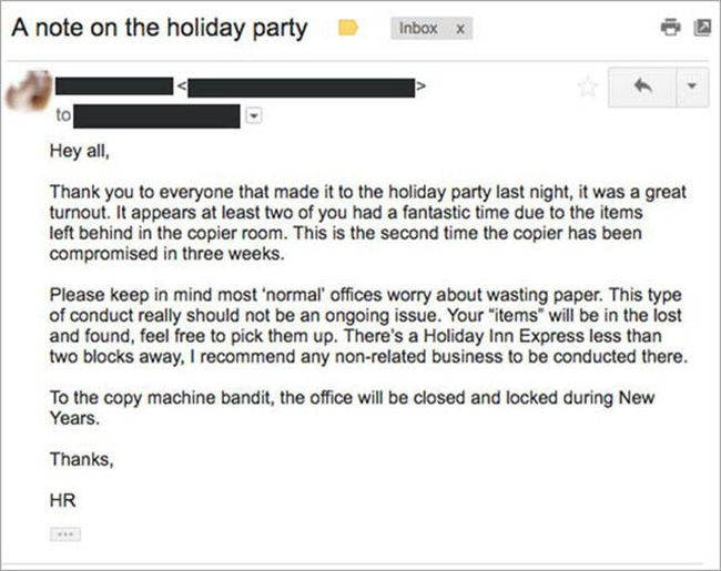 Human Resources Issues Memo After Workers Have Sex On The Copy Machine
