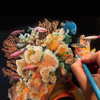 Lisa Ericson Creates Incredible Surreal Fish Paintings