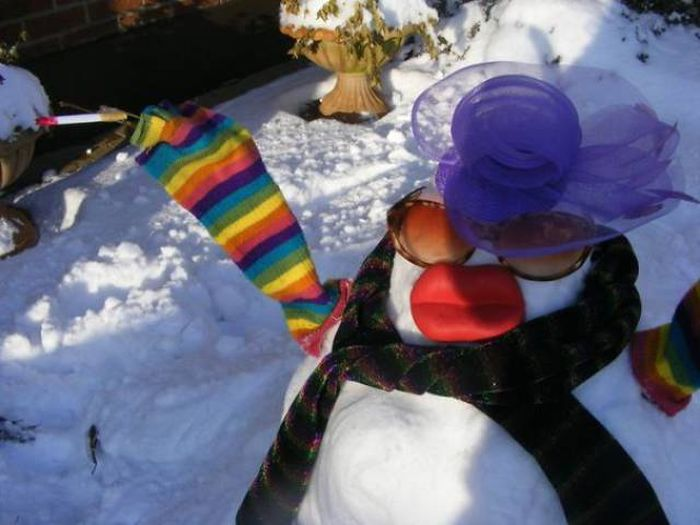 What It Looks Like When A Snowman Becomes A Work Of Art