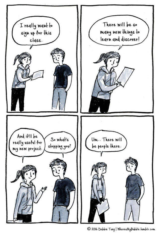 Comics That Accurately Capture The Experience Of Being An Introvert
