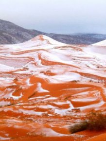 Unbelievable Photos Show Freak Snowfall In The Sahara Desert