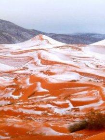 Unbelievable Photos Show Freak Snowfall In The Sahara Desert