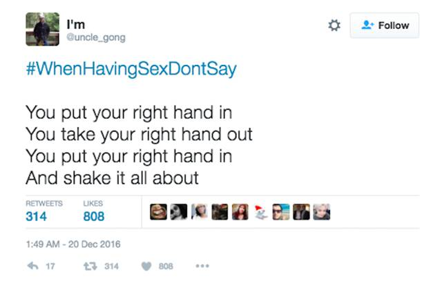 Twitter Users Reveal The Things You Definitely Shouldn't Say During Sex