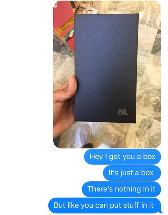 After This Guy Gave His Girl An Empty Box The Internet Reacted