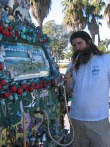 Jesus Loving Hippie Travels The World Showing Off His Van