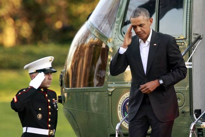 A Look Inside The President's Marine One Helicopter
