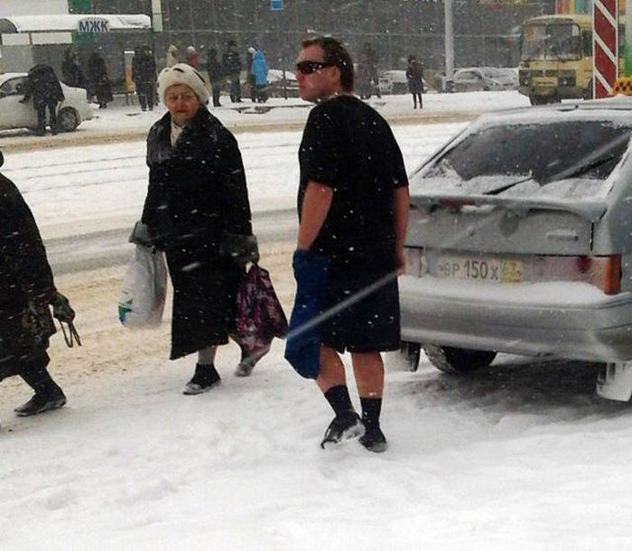 People Who Could Clearly Care Less About Cold Weather