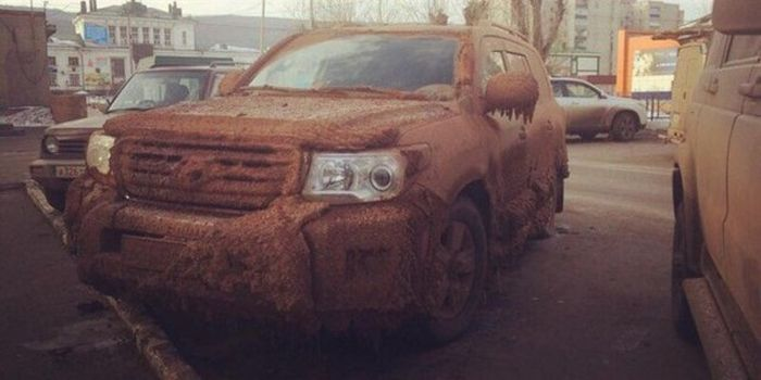 Truck Turns Into A Wintery Mess