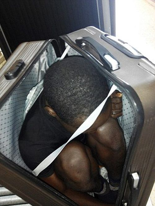 19 Year Old Migrant Smuggled Across The Border In A Suitcase
