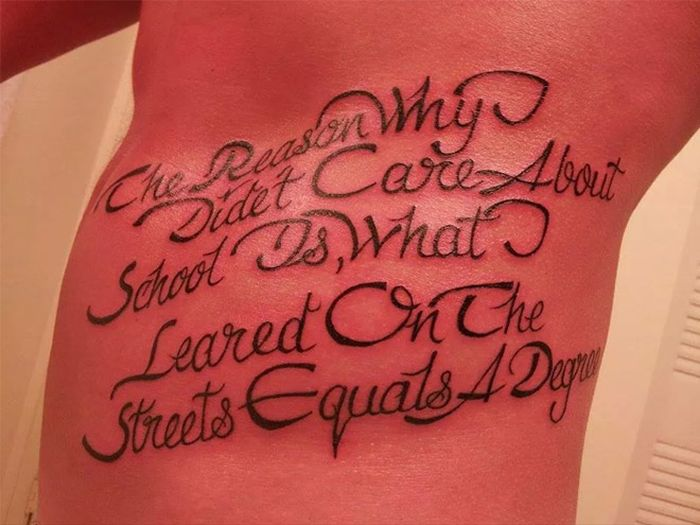 Tattoos Designed For People Who Are Stupid
