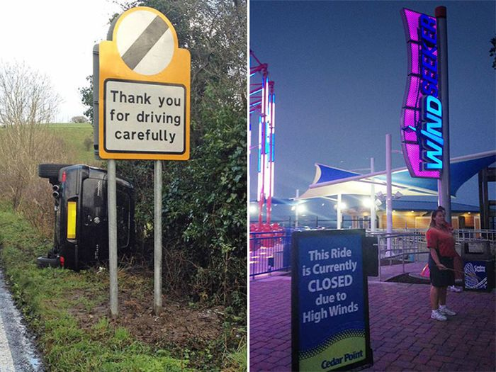 Hilarious Examples Of In Your Face Irony
